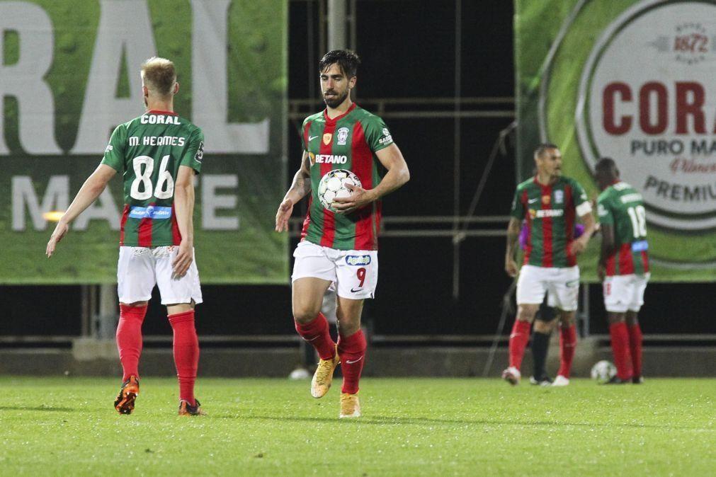 Avançado Rodrigo Pinho foi a novidade no treino do Benfica