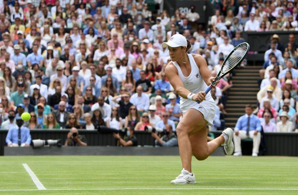 Wimbledon: Barty vence Kerber e estreia-se na final do 'major' londrino