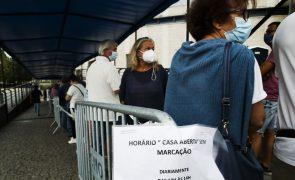 Covid-19: Mais de 600 mil pessoas vacinadas em quatro dias
