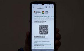 Covid-19: Cerca de 1,8 milhões de certificados digitais emitidos em Portugal