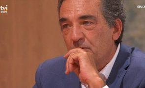 Júlio Magalhães chora em direto e deixa Goucha surpreendido: