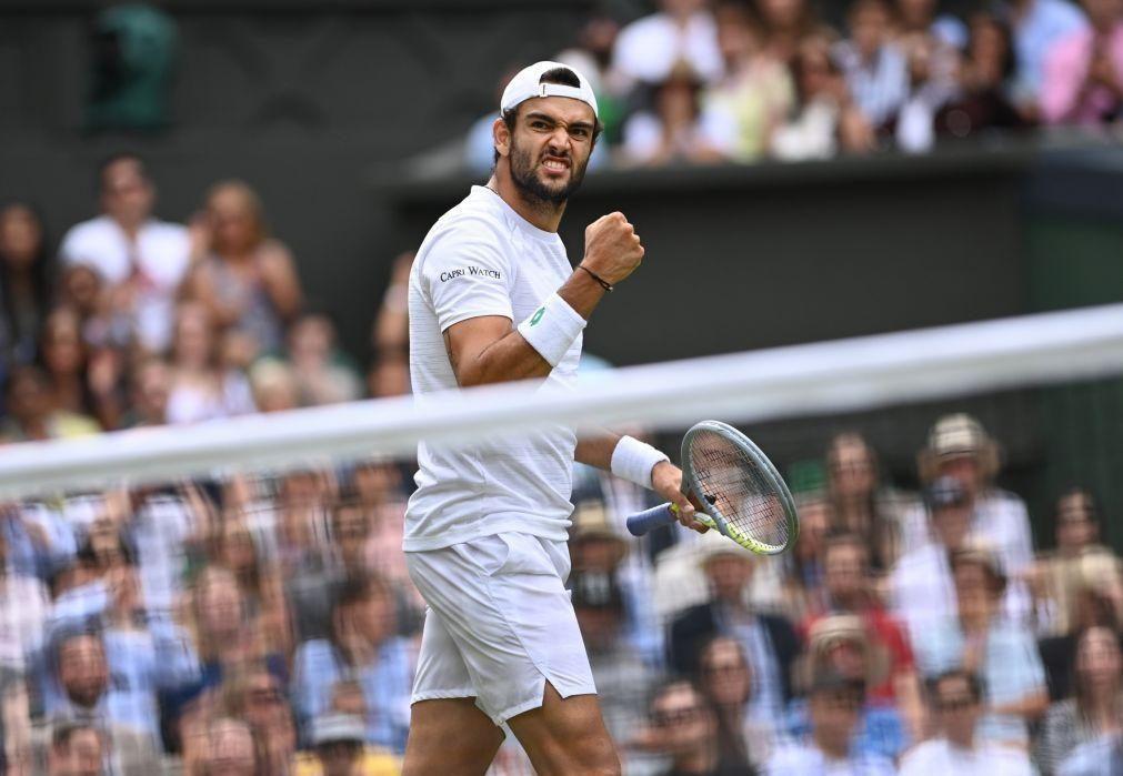 Wimbledon: Berrettini vence Hurkacz e está pela primeira vez na final de um 'major'