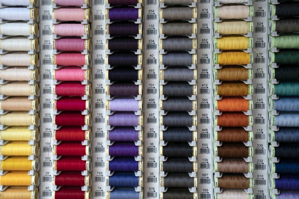 Exportações de têxteis e vestuário sobem 17,7% até maio e estão ainda abaixo de 2019
