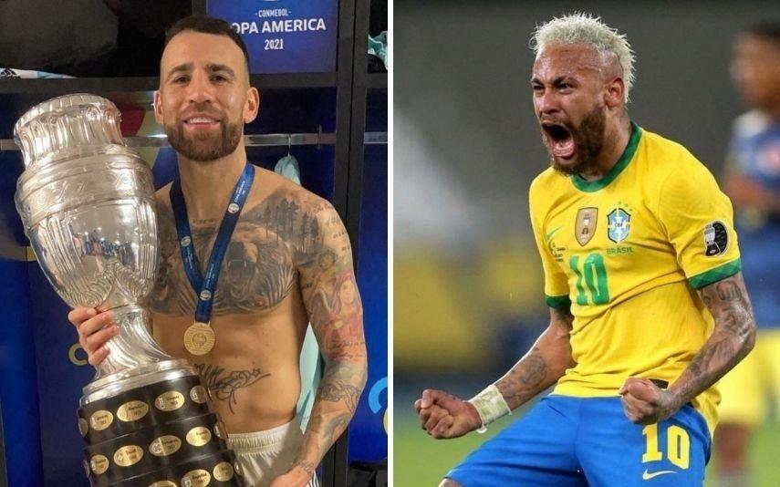 Otamendi e Neymar Protagonizam momento caricato na final da Copa América. Vídeo torna-se viral