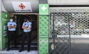 Covid-19: PSP fecha 6 estabelecimentos e 40 multas no fim de semana