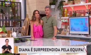 Diana Chaves surpreendida mas é João Baião quem desaba em lágrimas