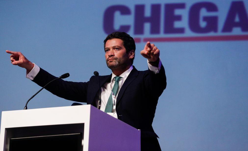 André Ventura diz que PS e PSD devem ser tratados como iguais