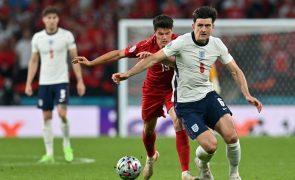 Pai de Maguire foi pisado na final do Euro2020 e ficou com costelas partidas