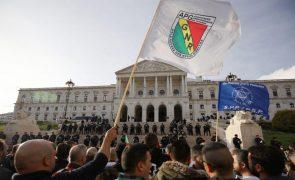 Elementos da PSP e GNR protestam hoje em conjunto contra proposta do Governo do subsídio de risco