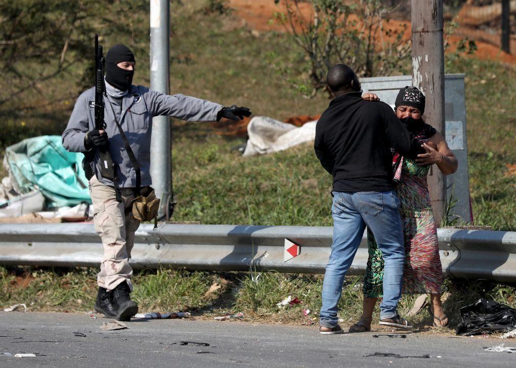 África do Sul: Presidência contabiliza pelo menos 117 mortos devido à violência
