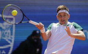 Krajinovic afasta Tsitsipas nos 'quartos' do torneio de ténis de Hamburgo