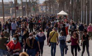 Covid-19: Contágios em Espanha sobem para 537 casos por 100.000 habitantes