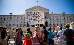 Covid-19: Meio milhar protesta em Lisboa contra as medidas de prevenção