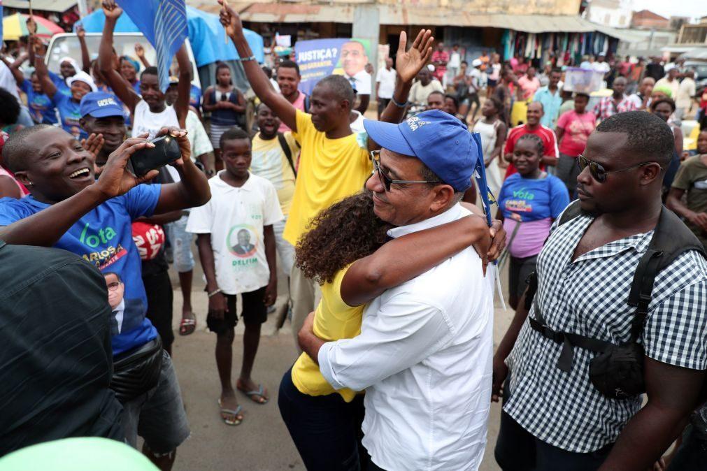 São Tomé/Eleições: Apoiantes de Carlos Vila Nova celebram resultado nas ruas da capital