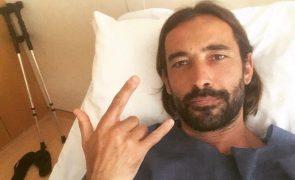 Ator Rúben Gomes sofre acidente e fica com graves lesões. As imagens são arrepiantes