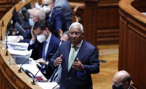 Estado da nação: Costa diz a CDS-PP que desconhecia despacho sobre festejos do Sporting