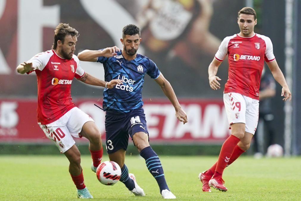 Sporting de Braga empata com Marselha em jogo de preparação