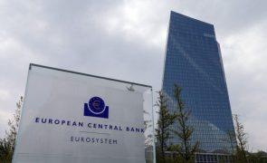 BCE deixa as taxas juro inalteradas em mínimos