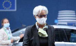 Lagarde alerta que variante Delta pode travar recuperação