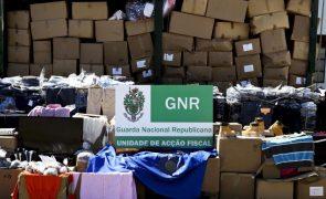 Milhares peças de vestuário contrafeito apreendidas na região Norte