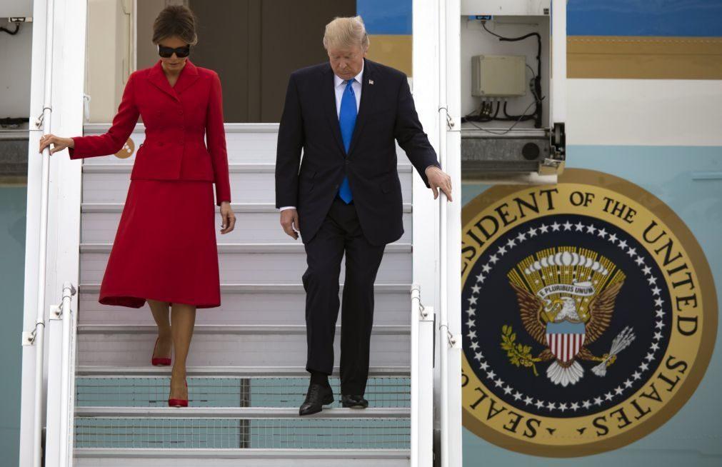 Presidente norte-americano chega a Paris