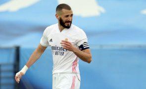 Covid-19: Karim Benzema está infetado e falha pré-época do Real Madrid