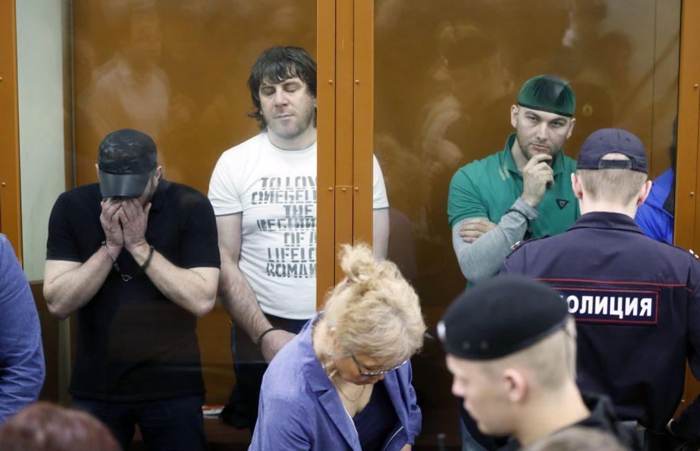 Cinco homens condenados a 20 anos pela morte do opositor russo Boris Nemtsov