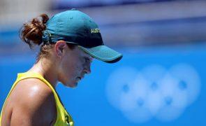 Tóquio2020: Líder mundial Ashleigh Barty eliminada no torneio de ténis