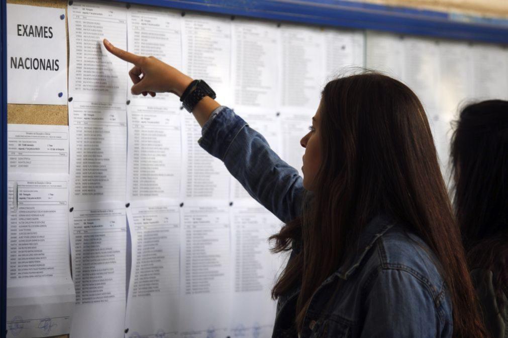 Médias de Português e Matemática sobem nos exames nacionais