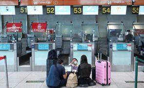Covid-19: Viagens com destino ao estrangeiro caem 89,5% no 1.º trimestre