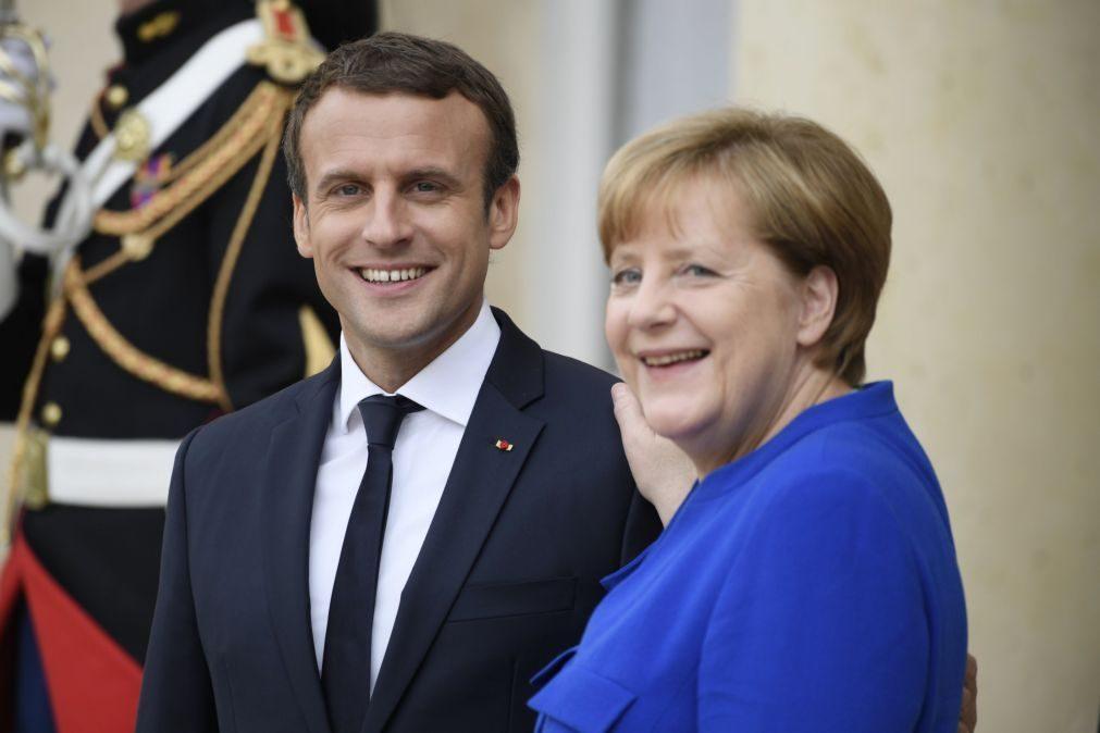 Macron e Merkel defendem diálogo com Trump apesar das