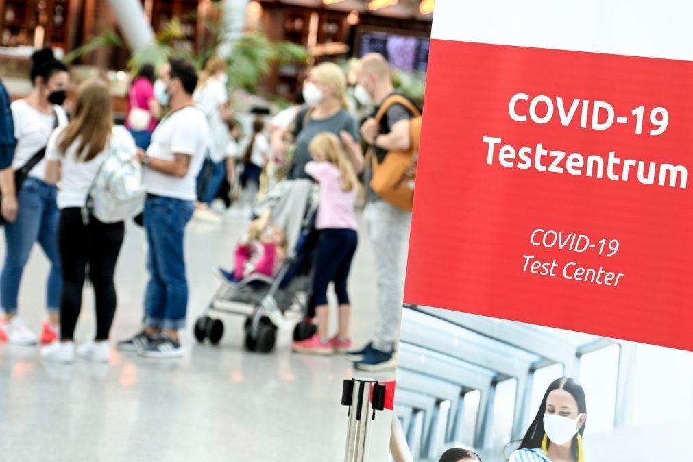Covid-19: Alemanha impoe a partir de domingo teste a viajantes não imunizados