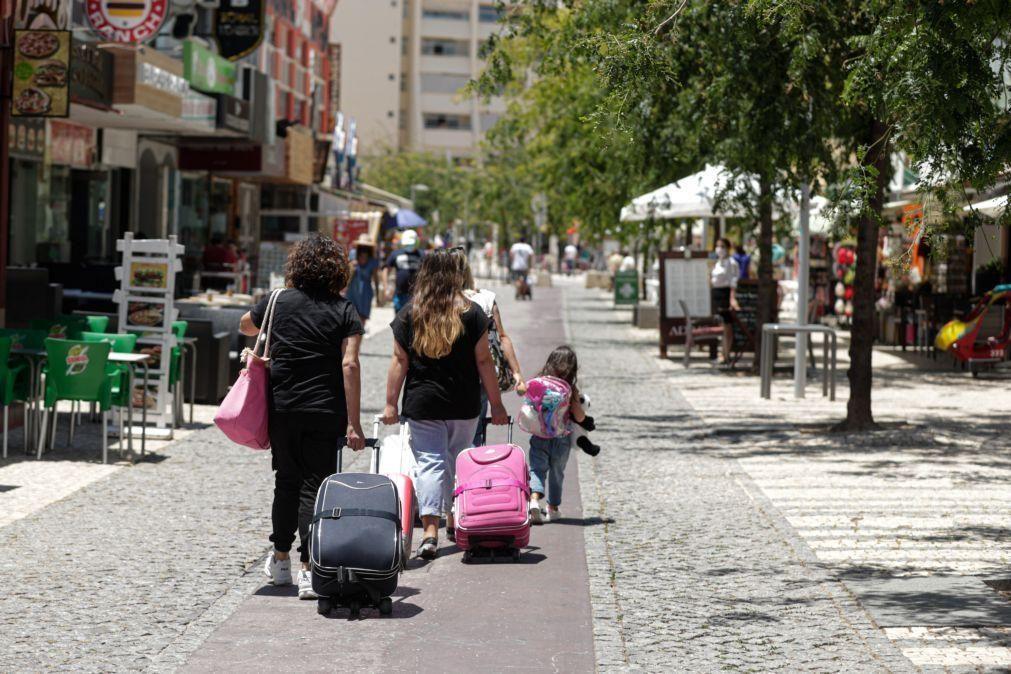 Covid-19: Menos 50,8% de dormidas de não residentes no 1.º semestre