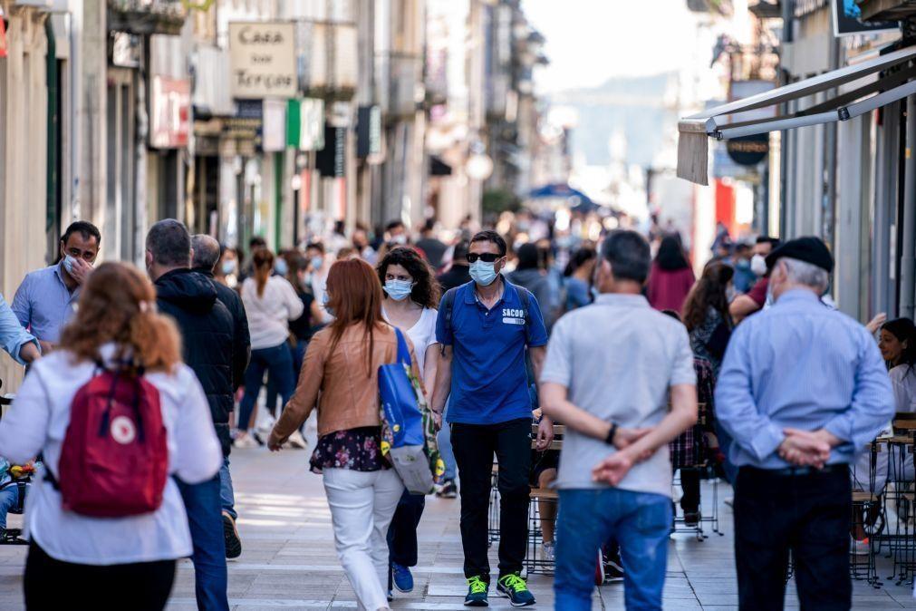 Covid-19: Portugal tem 40 concelhos com incidência acima dos 480 casos