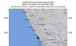 Forte sismo de magnitude 6,1 abala norte do Peru