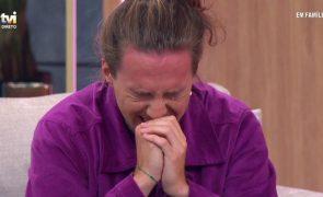 Namorado de Carolina Loureiro em lágrimas ao ser surpreendido na TVI