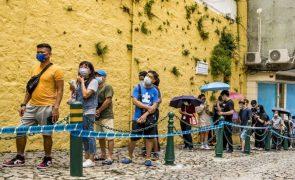 Covid-19: Filas a perder de vista após Macau decidir testar toda a população em 72 horas
