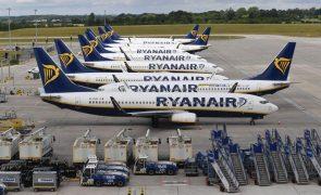 Ryanair transporta 9,3 milhões de passageiros em julho mais do dobro de igual mês de 2020