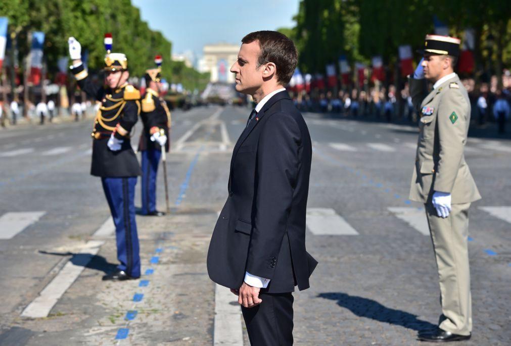 Macron agradece apoio dos EUA na I Guerra, diz que