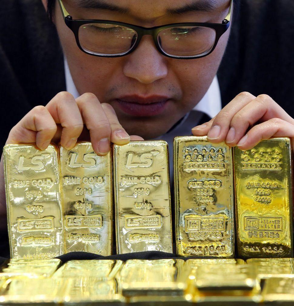 Preço do ouro em cerca de 1.800 dólares, 13% abaixo do máximo de agosto de 2020