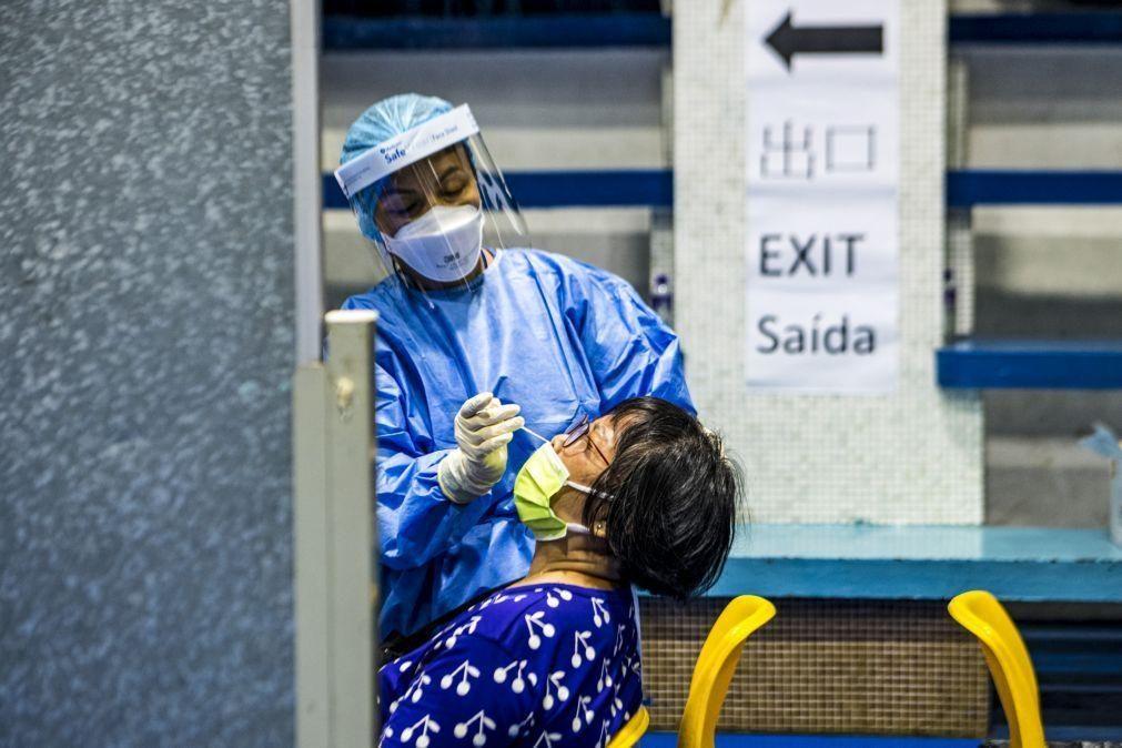 Covid-19: Macau já testou 695 mil pessoas, quase 300 mil resultados apurados