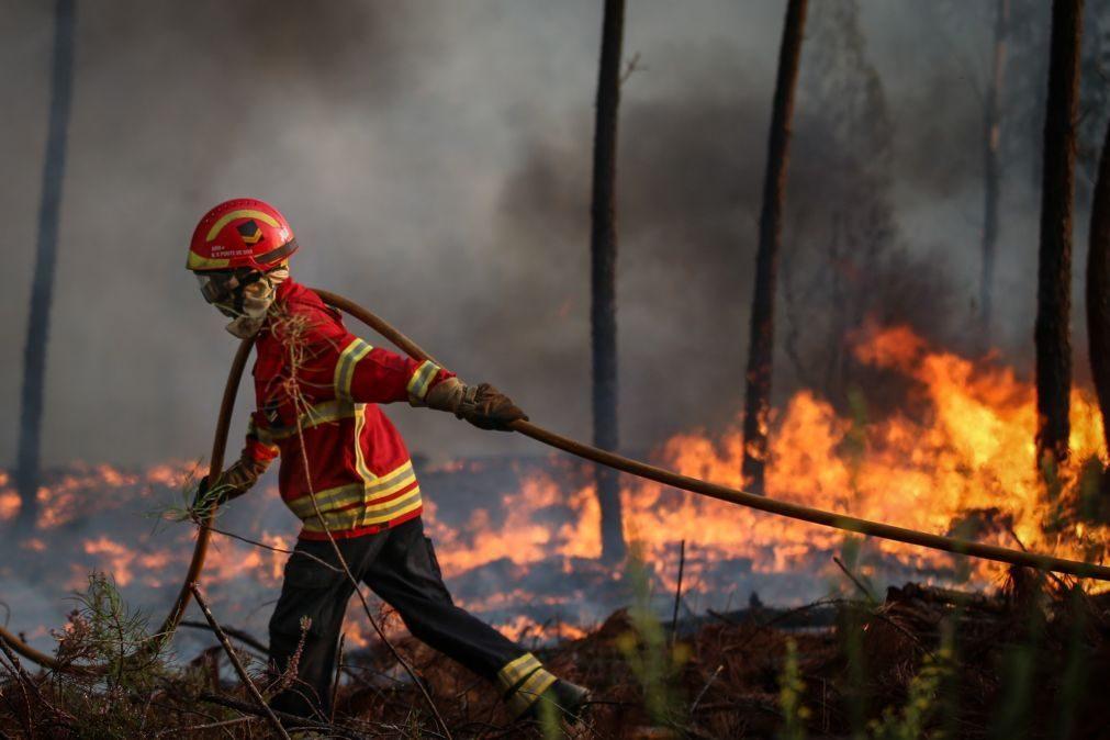 Mais de 170 bombeiros combatem dois incêndios em Loulé