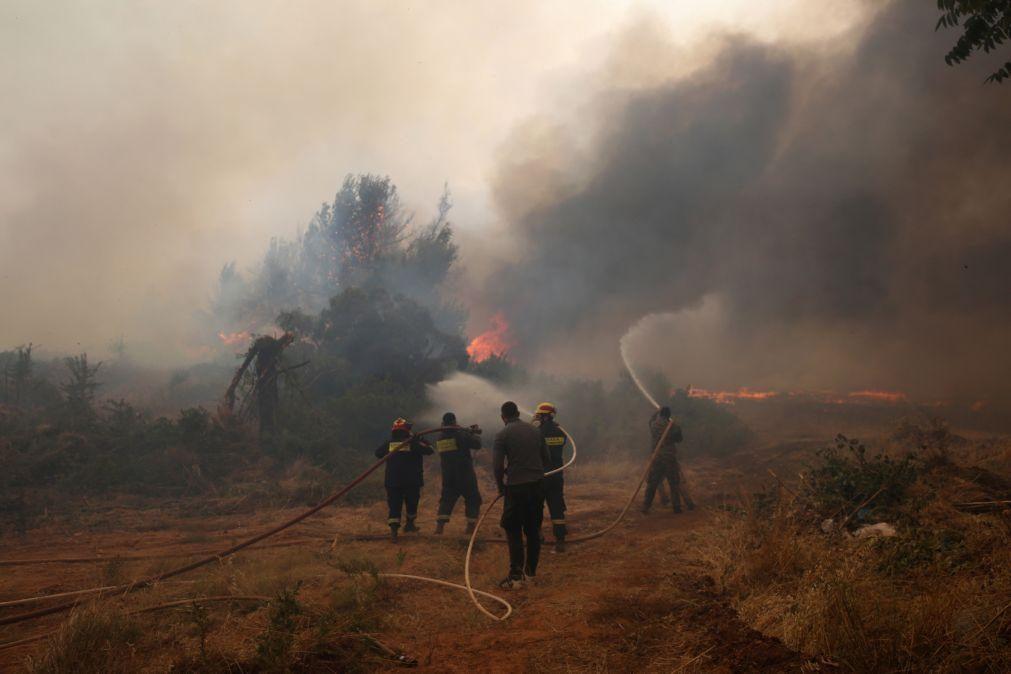 Grécia continua a lutar contra incêndios com vento forte a dificultar operações