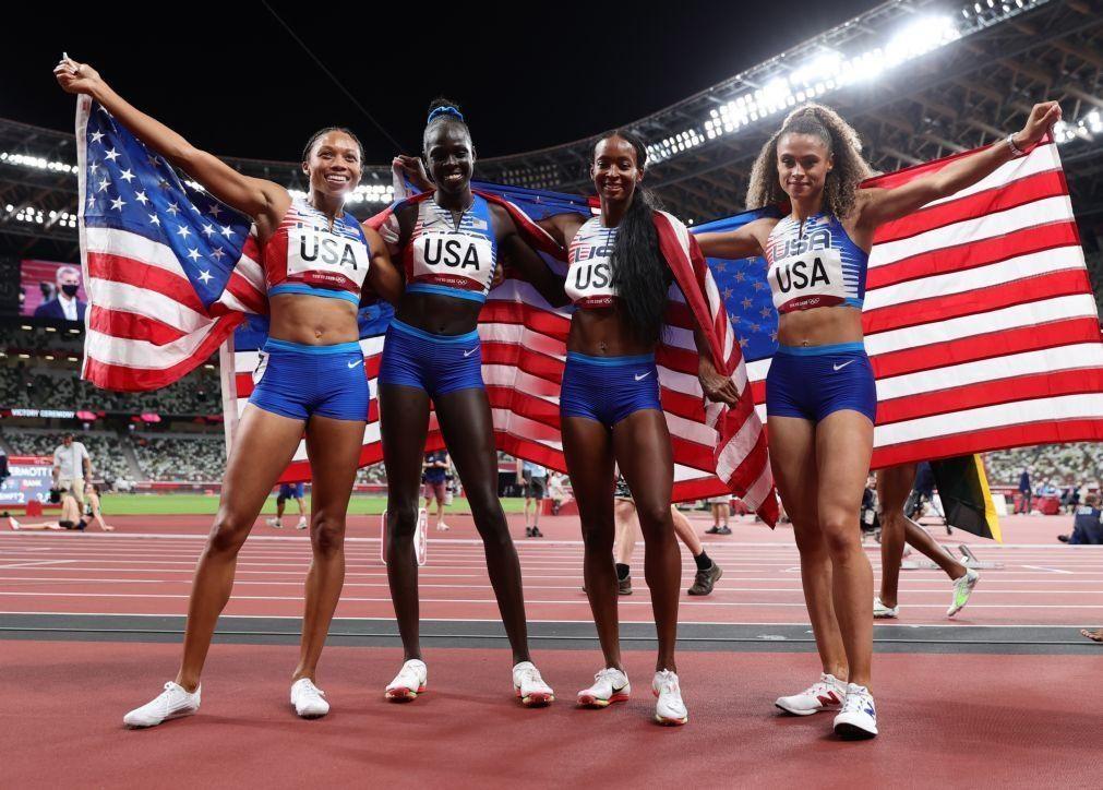 Tóquio2020: Norte-americanos ganham as duas estafetas de 4x400 metros