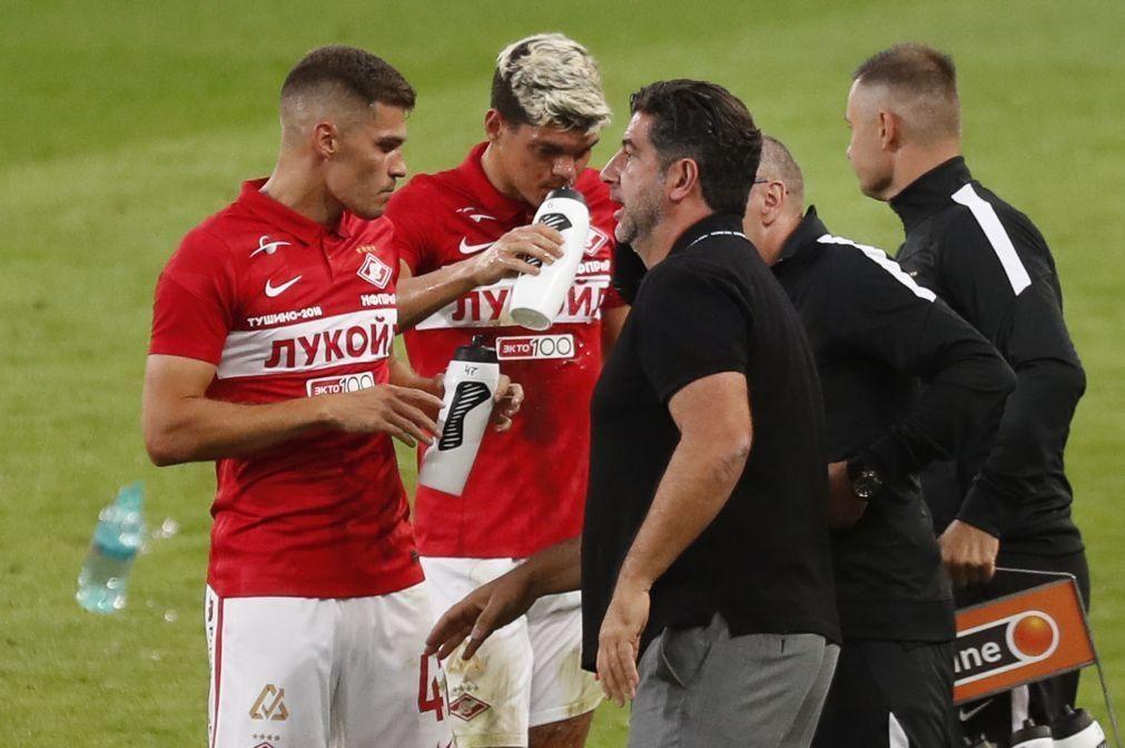 Spartak, de Rui Vitória, perde na Liga russa antes de enfrentar Benfica na Luz