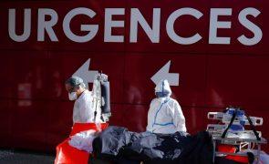 Covid-19: Número de doentes hospitalizados em França sobe 25% em três semanas