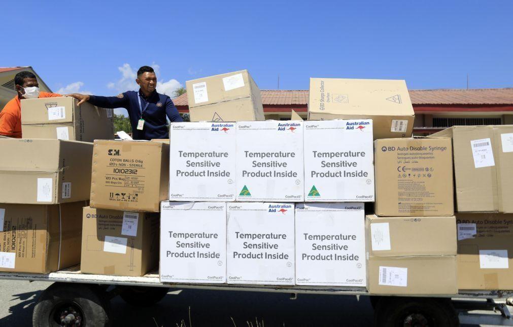 Covid-19: Timor-Leste vai receber esta semana maiores carregamento de sempre de vacinas