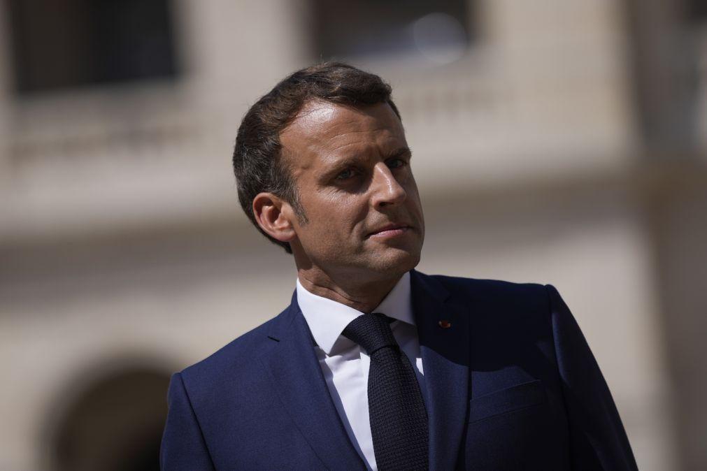 Clima: Macron apela para