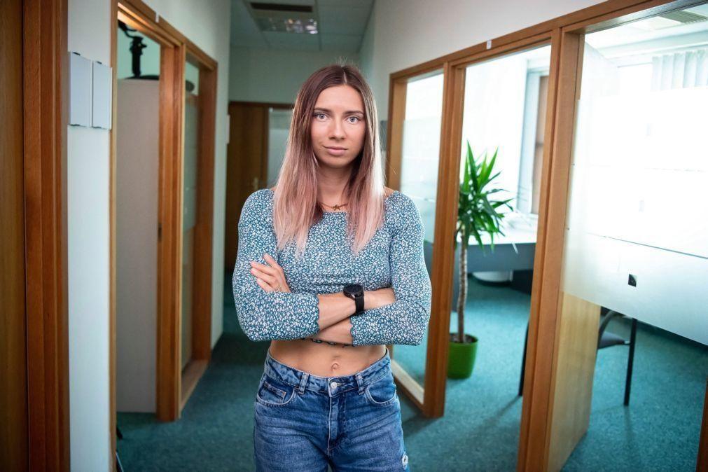 Velocista bielorrussa que foi para a Polónia pede para