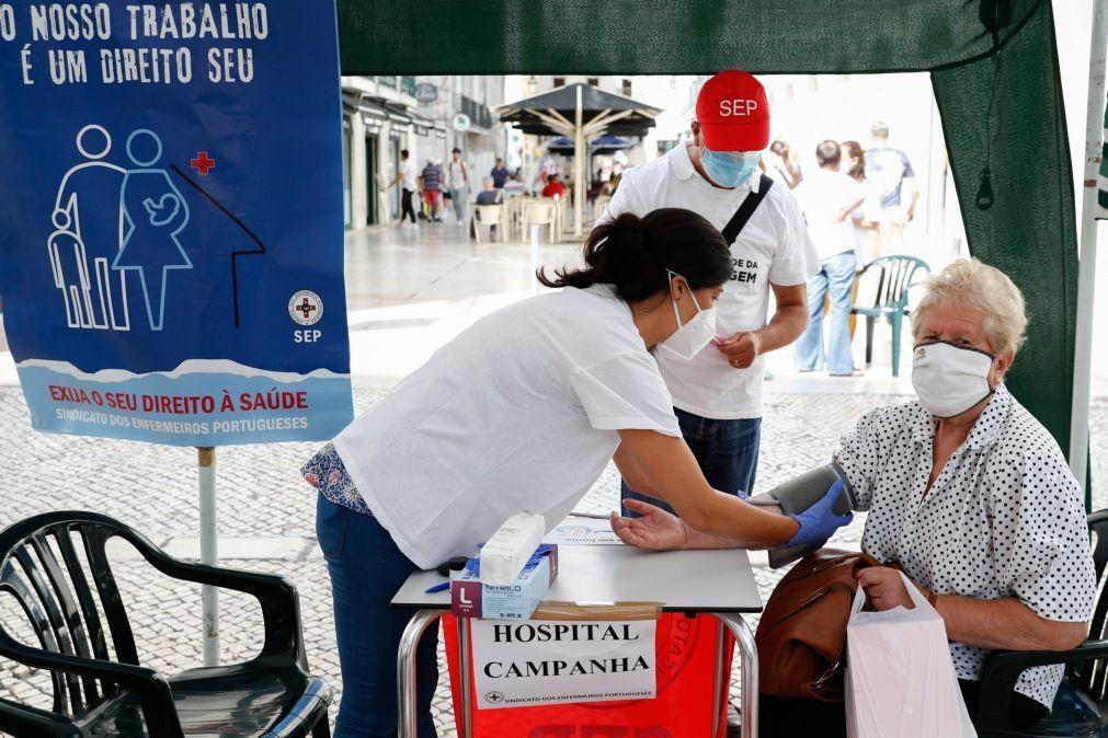 Dezenas de utentes passaram pelo hospital de campanha do Sindicato dos Enfermeiros Portugueses